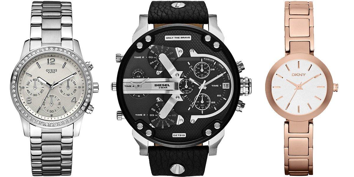 Часы Diesel, DKNY, GUESS