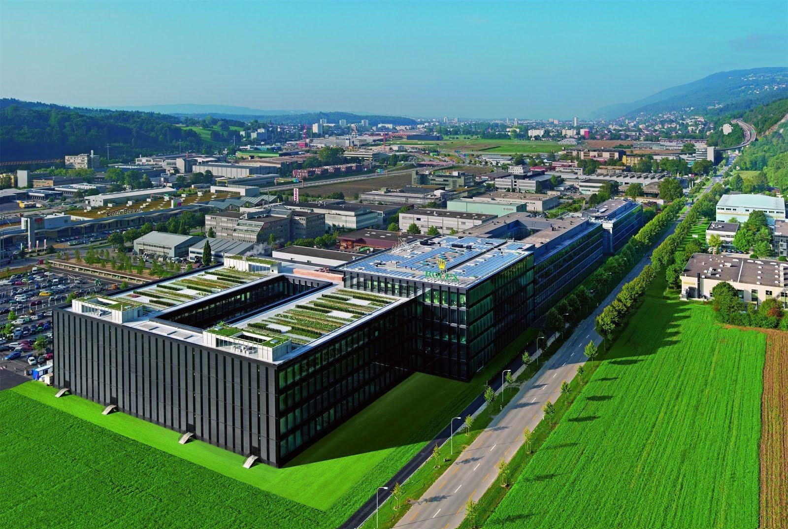 Фабрика Rolex в городе Bienne