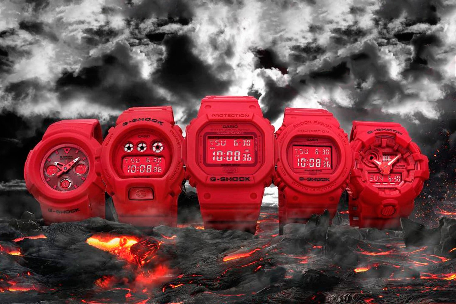 Casio G Shock Red Out